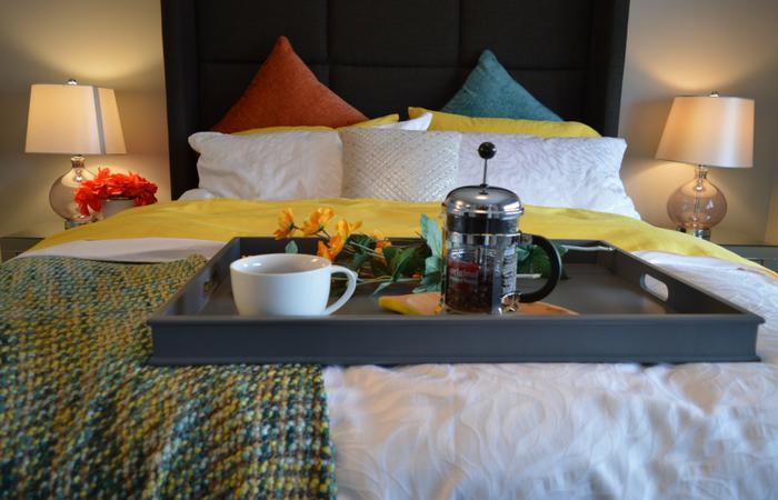 café da manhā na cama