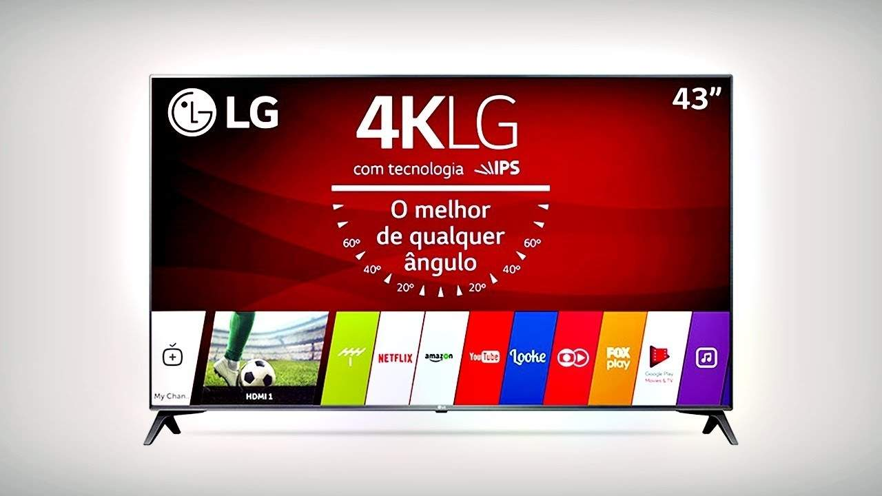 "Smart TV LED 43"" LG 43UJ6565 Ultra HD 4K"