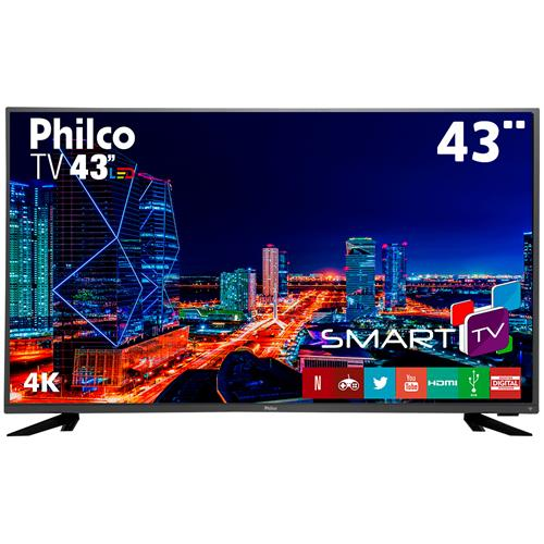 "Smart TV LED 43"" Ultra HD 4K Philco PTV43F61DSWNT"