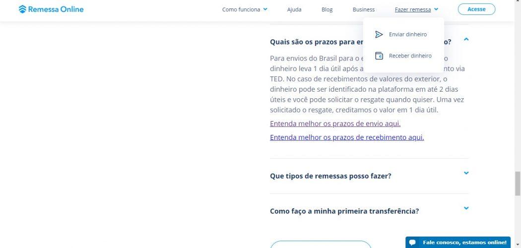 remessa online